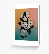 Panda Street Fight Greeting Card
