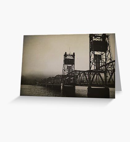 Old Border Crossing Greeting Card