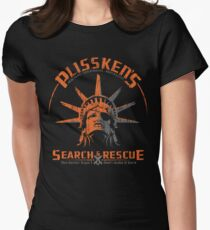 Snake Plissken's  Search & Rescue Pty Ltd Women's Fitted T-Shirt