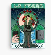 Sherlock Nouveau: Irene Adler Canvas Print