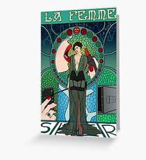 Sherlock Nouveau: Irene Adler Greeting Card