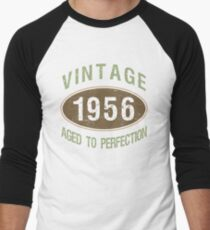 Vintage 1956 Birthday Men's Baseball ¾ T-Shirt
