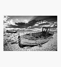 abandoned trawlers at dungeness Photographic Print