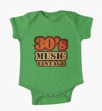 30's Music Vintage T-Shirt Kids Clothes