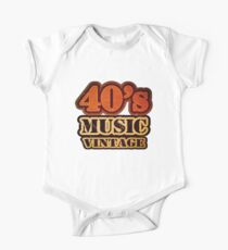 40's Music Vintage T-Shirt One Piece - Short Sleeve