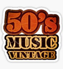 50's Music Vintage T-Shirt Sticker