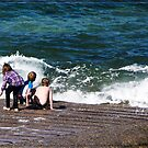 Kings Beach - Playing in the Surf by Chris Cohen