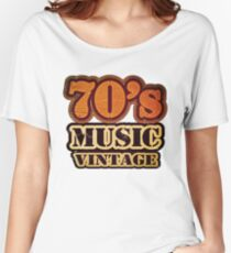 70's Music Vintage T-Shirt Women's Relaxed Fit T-Shirt