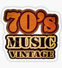 70's Music Vintage T-Shirt Sticker