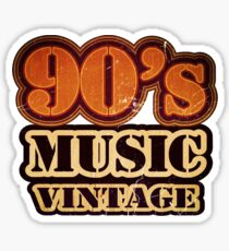 90's Music Vintage T-Shirt Sticker