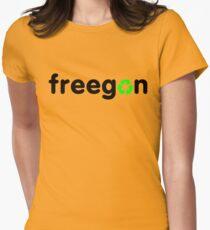 Freegan Womens Fitted T-Shirt