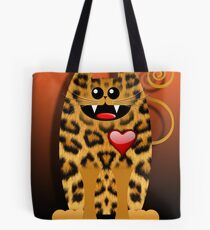 LOVELY LEOPARD (card) Tote Bag