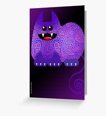 PAISLEY CAT  (card) Greeting Card