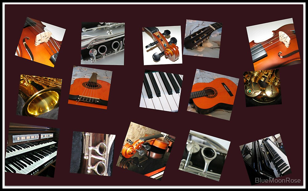 The Crazy Music Collage by BlueMoonRose