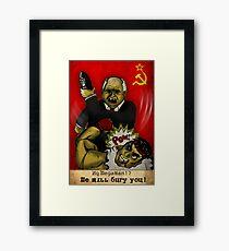 Khrushchev Vs Capcom  Framed Print