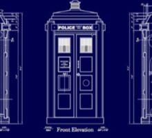 Doctor who TARDIS design  Sticker
