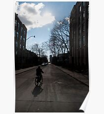 Morning Bike Ride And Sun on Crawford Street Poster