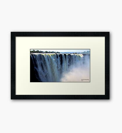 Vic Falls in all is glory! Framed Print