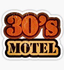 Vintage 30's Motel - T-Shirt Sticker