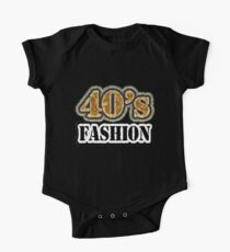 Vintage 40's Fashion - T-Shirt One Piece - Short Sleeve