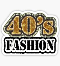 Vintage 40's Fashion - T-Shirt Sticker