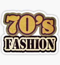 Vintage 70's Fashion - T-Shirt Sticker