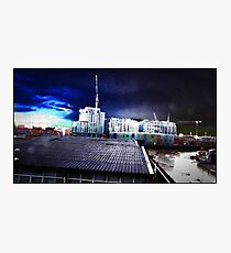 postmodernism in a  psychedelic gothic sky Photographic Print