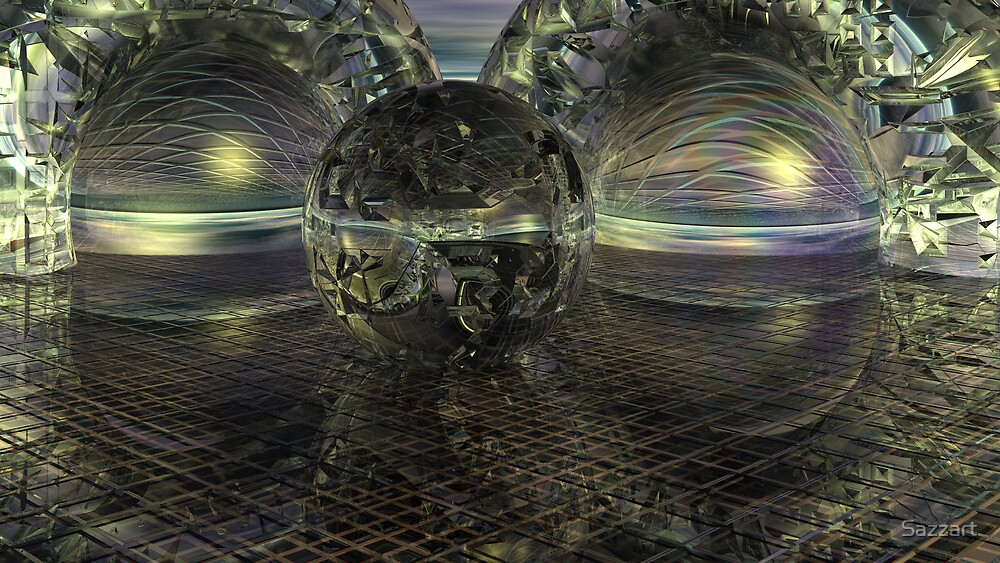 Cyber Aeon Darkly by Sazzart