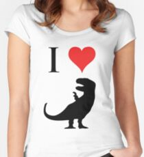 I Love Dinosaurs - T-Rex Women's Fitted Scoop T-Shirt