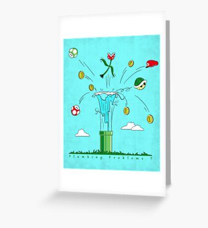 Plumbing Problems ? Greeting Card