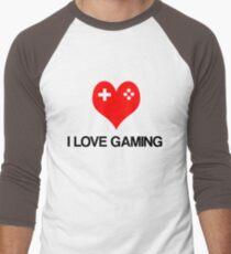 I Love Gaming Men's Baseball ¾ T-Shirt