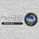 Moby Dick - 320th SQ - 90th BG - 5th AF    Emblem (Black) by warbirdwear