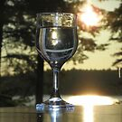 A Glass of Wine at Sunset by MaryinMaine