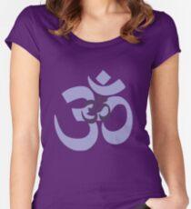 Om Aum symbol - purple Women's Fitted Scoop T-Shirt