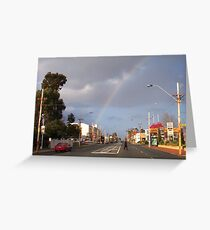 Suburban Rainbow 02 Greeting Card