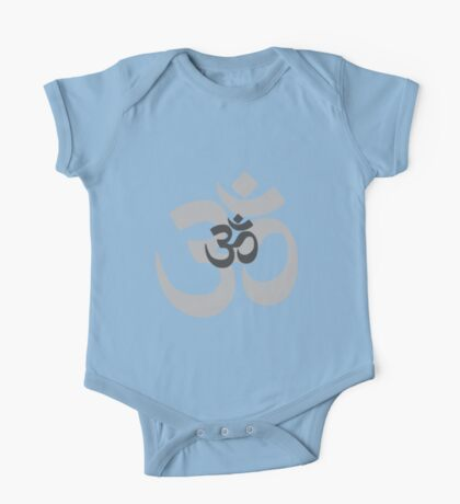 Om Aum symbol - grey Kids Clothes
