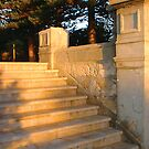 Steps At Sunset by Robert Phillips