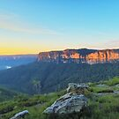 Cliffs of Red  - Panorama of Pearce's Pass by Mark  Lucey