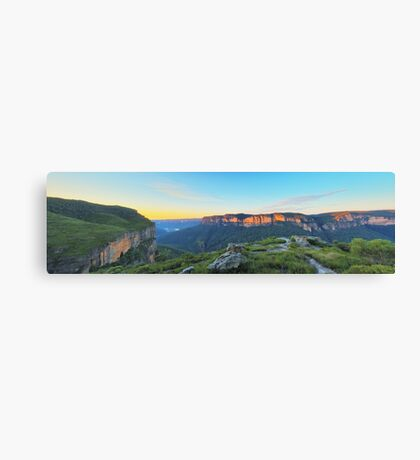 Cliffs of Red  - Panorama of Pearce's Pass Canvas Print