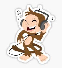 monkey dancing Sticker