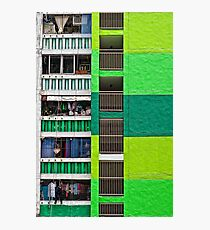 Housing in Green  Photographic Print