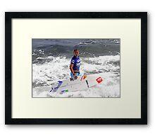 Vasco Riberio, Surfer, Portugal Framed Print