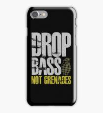 Drop Bass Not Grenades (gray/dark yellow) iPhone Case/Skin