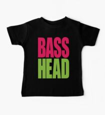Bass Head (magenta/neon green)  Baby Tee
