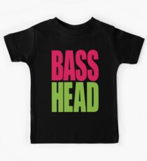 Bass Head (magenta/neon green)  Kids Tee