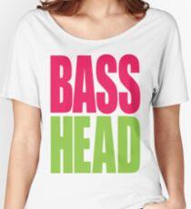 Bass Head (magenta/neon green)  Women's Relaxed Fit T-Shirt