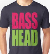 Bass Head (magenta/neon green)  Unisex T-Shirt
