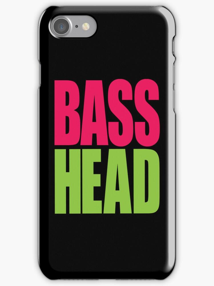 Bass Head (magenta/neon green)  by DropBass