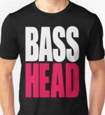 Bass Head (white/magenta)  T-Shirt