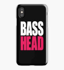 Bass Head (white/magenta)  iPhone Case/Skin